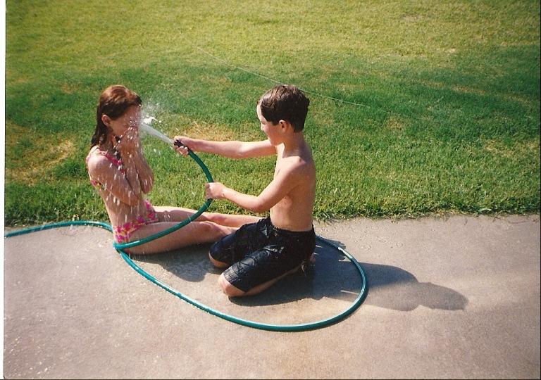 Backyard water fight